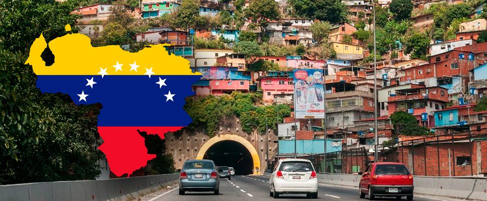 Slopes of the city of Caracas, Venezuela.
