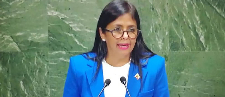 Delcy Rodríguez also presented false news at the UN