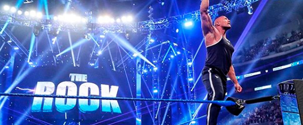 Dwayne Johnson en su regreso a la WWE.