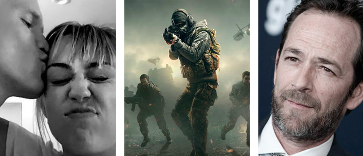 Miley Cyrus and Cody Simpson, Game 'Call of Duty' and Luke Perry.