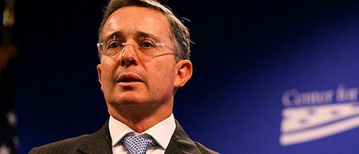 Former president of Colombia, Álvaro Uribe.