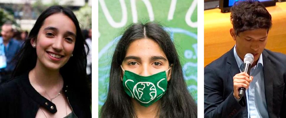 3 jóvenes latinoamericanos luchan por el medio ambiente