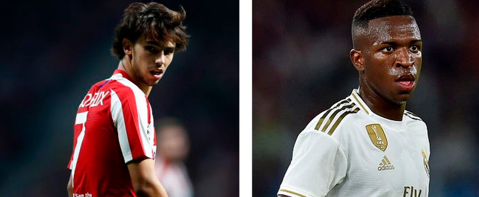 Joao Felix and Vinicius Junior.