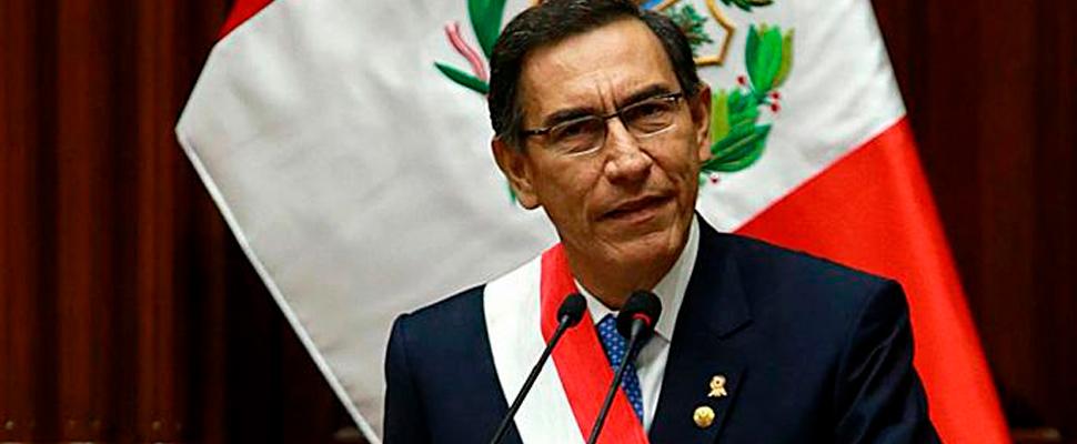 Presidente de Perú, Martín Vizcarra.