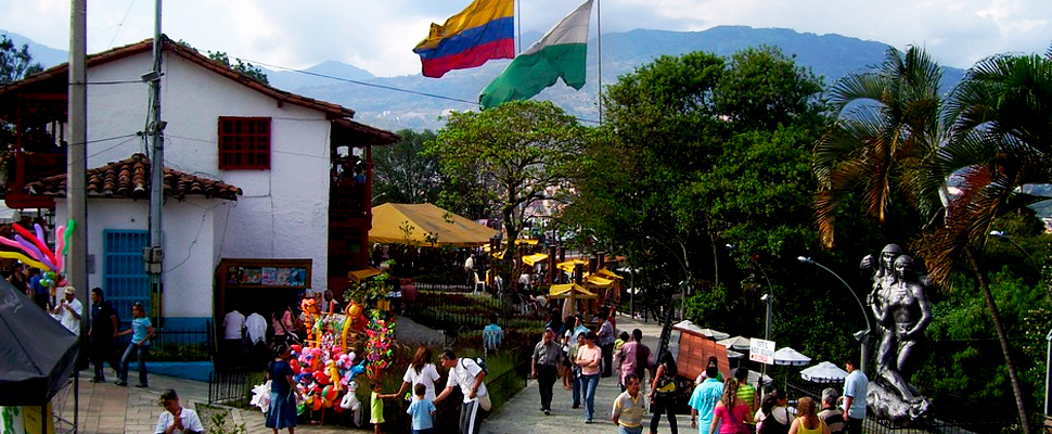 View of the Pueblito Paisa in Medellín, Colombia.