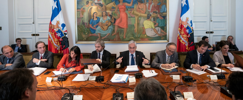 Sebastian Piñera on Cabinet Council of Ministers of Chile