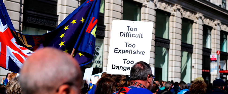 London protest for the pro-EU Brexit