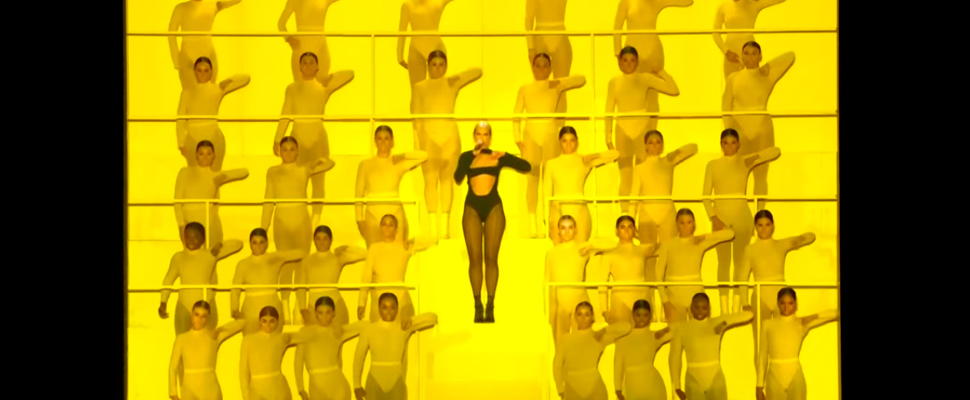 Presentation of Dua Lipa during the MTV EMA 2019.