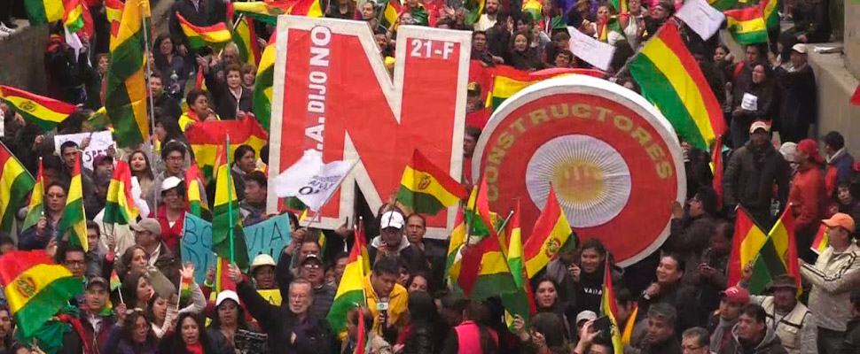 Massive protest in Bolivia against the presidential reelection of Evo Morales