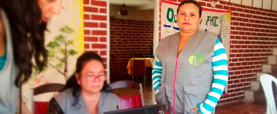 Cleiner Almanza, lideresa de la Corporación Mujer Sigue mis Pasos.