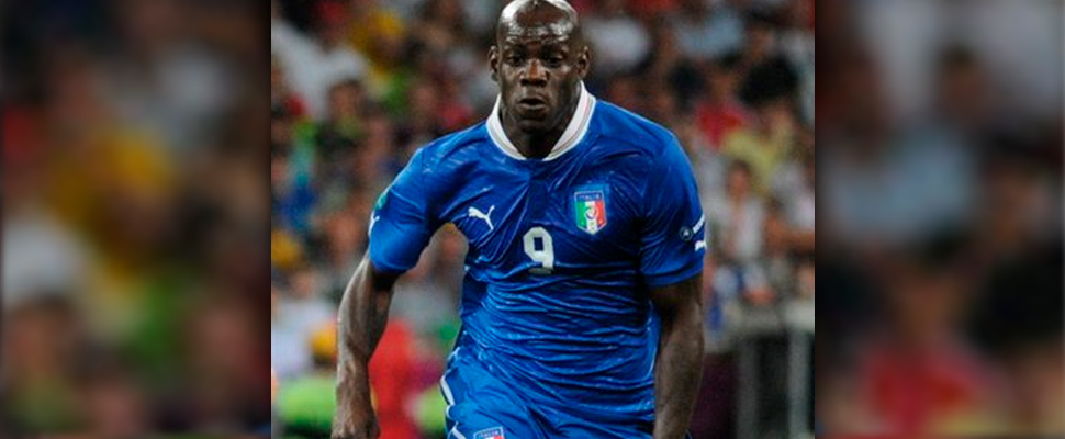 Mario Balotelli during a match against England.