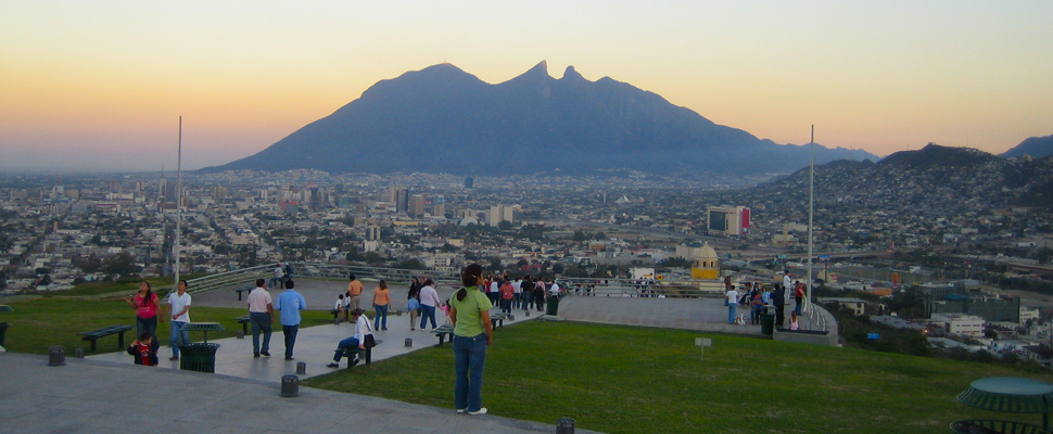Monterrey from the Macro Flag on the Bishop's Hill