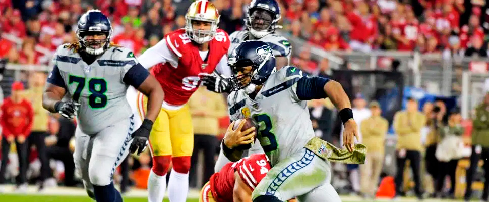 Seahawks vs 49ers during match.