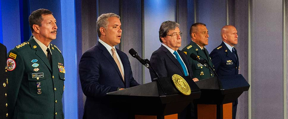 President Iván Duque in the appointment as new Minister of National Defense to Carlos Holmes Trujillo.