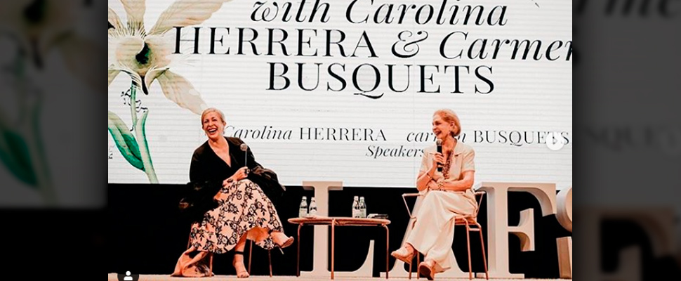 Conversation during the LAFS with Carolina Herrera and Carmen Busquets.
