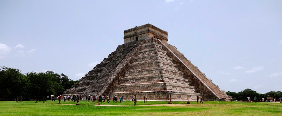Chichen Itza pyramid in Mexico.