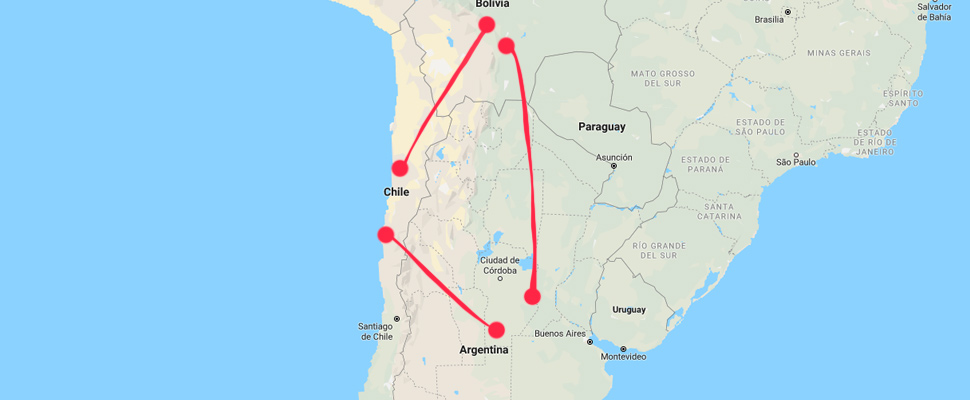 Lithium Triangle, composed of Bolivia, Chile and Argentina.