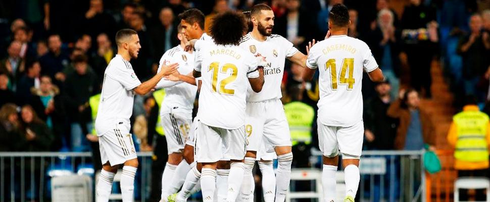 Jugadores del Real Madrid durante un partido.