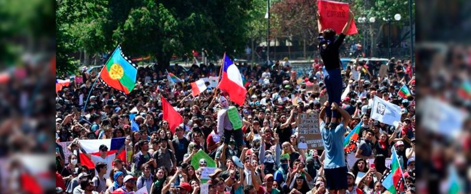Manifestaciones en Chile.