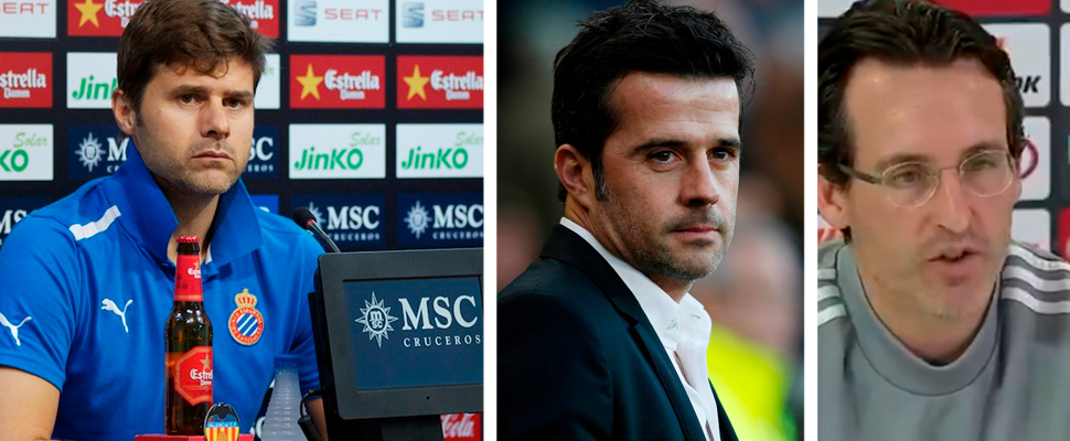 Mauricio Pochettino, Marco Silva and Unai Emery.