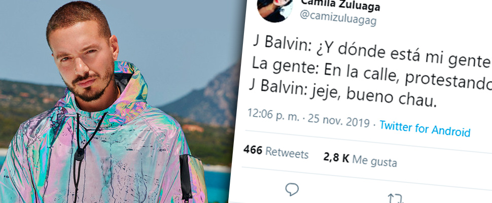 Tweet about the statements of J Balvin.