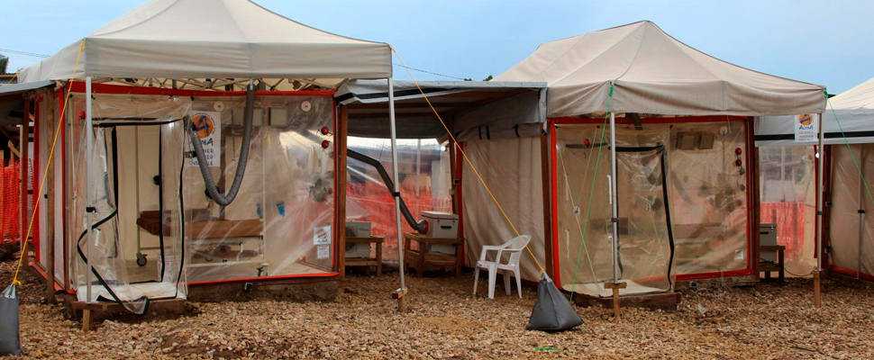 The Ebola Treatment Center in Beni, Democratic Republic of the Congo
