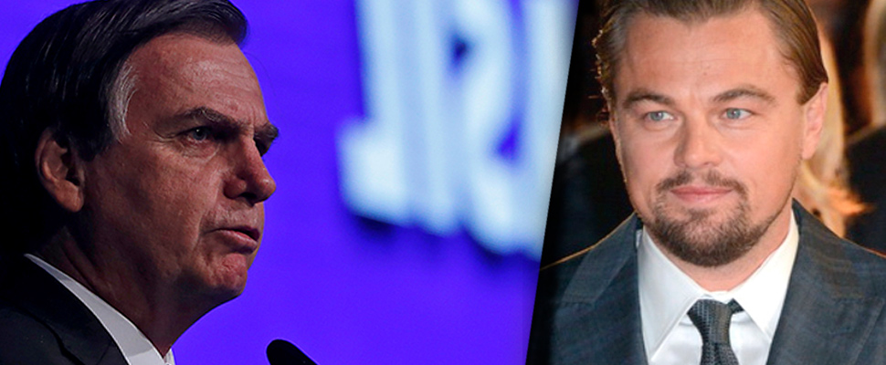 Jair Bolsonaro and Leonardo DiCaprio