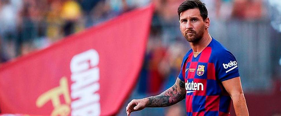 Lionel Messi durante un juego del FC Barcelona.