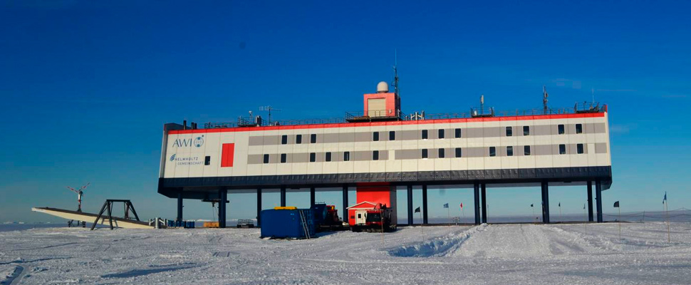 The Alfred Wegener Institute's Neumeyer-Station III in Antarctica.