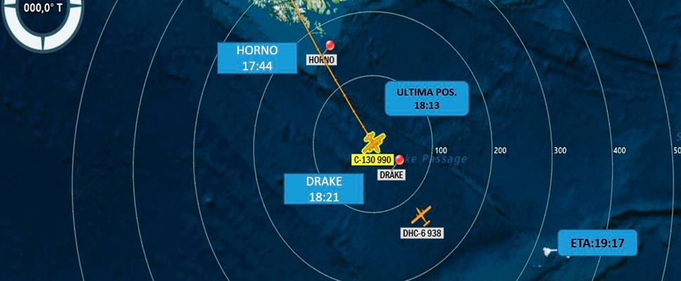 Plan de vuelo del avión militar chileno siniestrado.