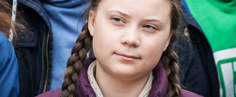 The environmental activist Greta Thunberg.