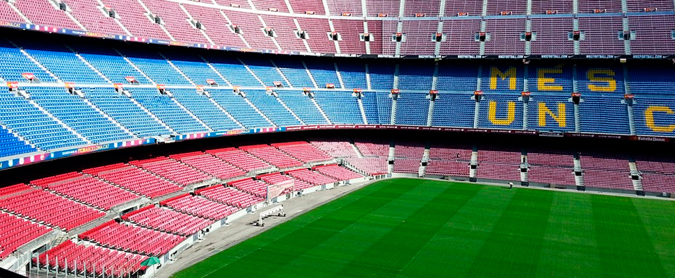 Camp Nou Stadium in Barcelona.