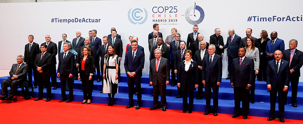 Participants of the climate change summit, COP25.