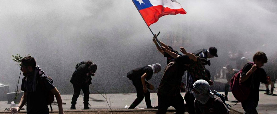 Protests in Chile.