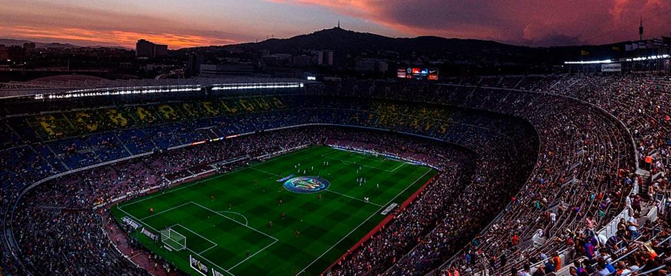 Estadio Camp Nou en Barcelona.