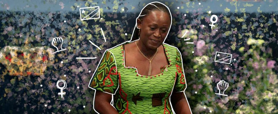 Activista de la República Democrática del Congo, Caddy Adzuba.