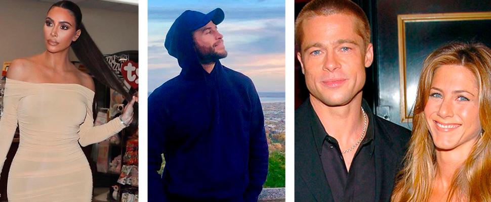Kim Kardashian, Liam Hemsworth, Brad Pitt and Jennifer Aniston.
