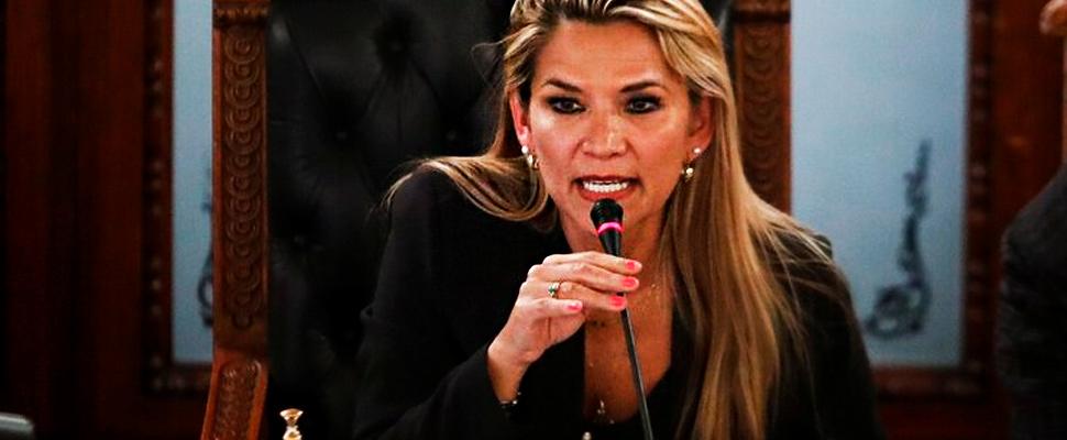 Acting President of Bolivia, Jeanine Áñez.
