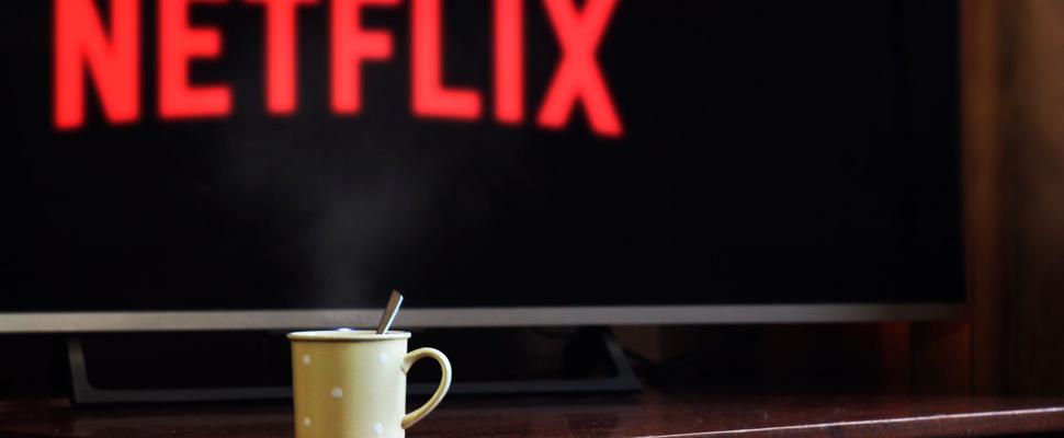 TV showing the start of Netflix.