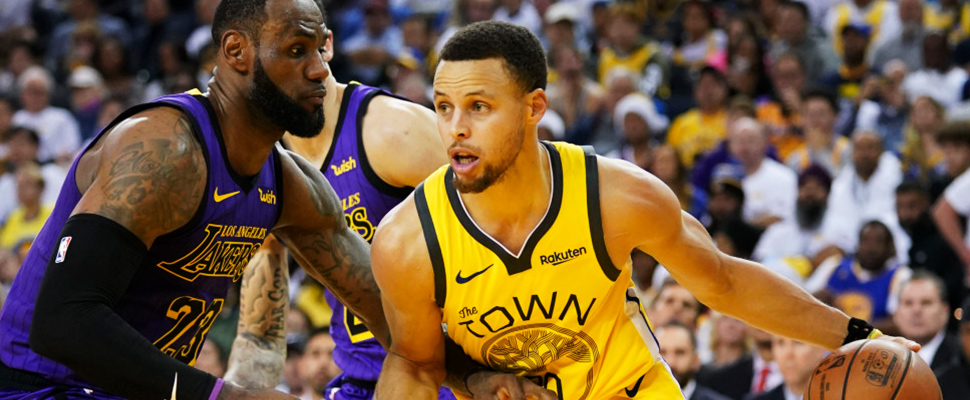LeBron James y Stephen Curry.