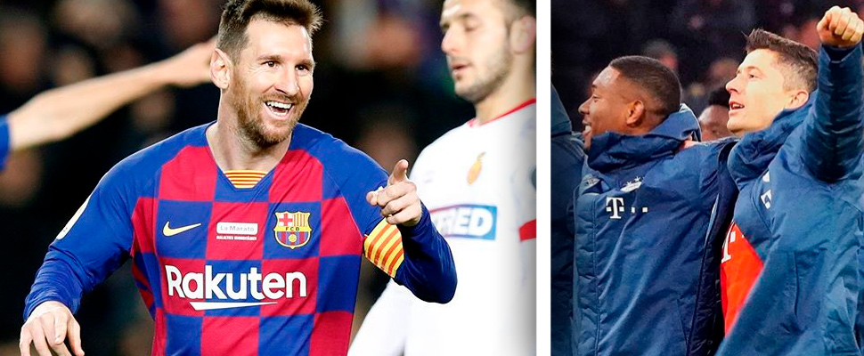 Leonel Messi and Robert Lewandowski.