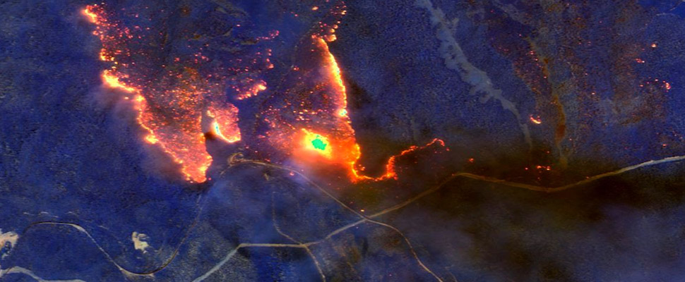 Incendios en Australia vistos desde satélite.