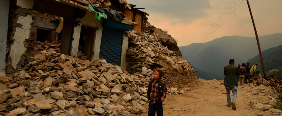 The ruins of Nepal's Gorkha district after the 2015 earthquake.