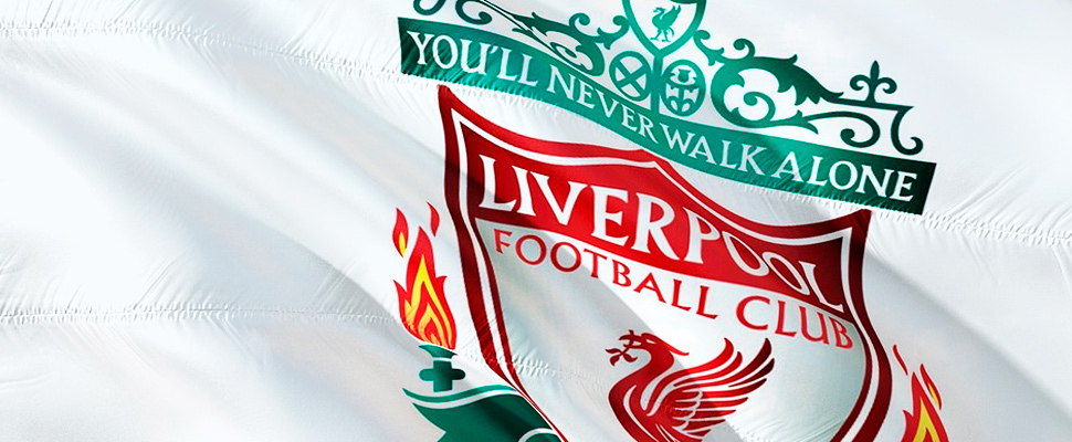 Bandera del Liverpool Football Club.