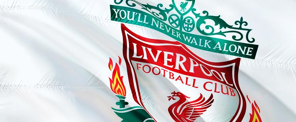 Liverpool Football Club flag.