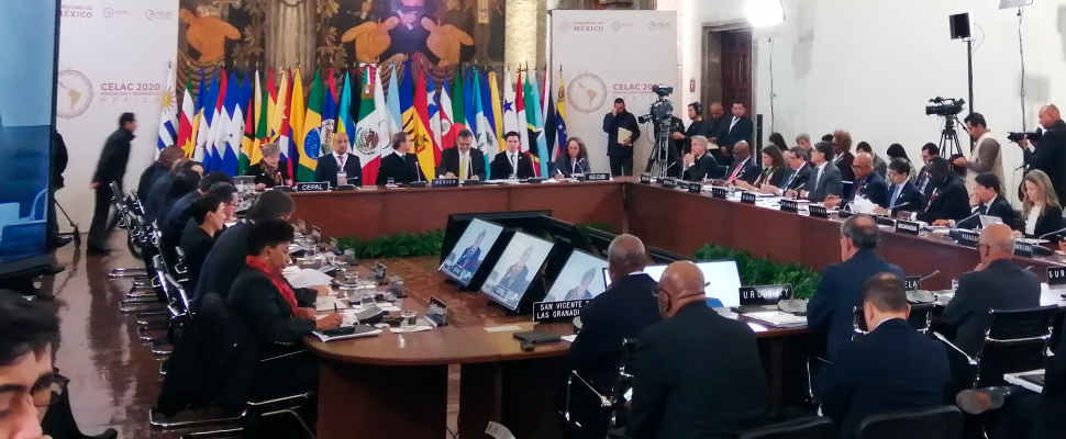 Plenary session of the Community of Latin American and Caribbean States in Mexico City.