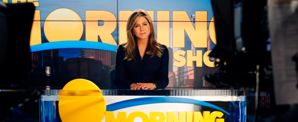 Still of the trailer for the series 'The Morning Show'.