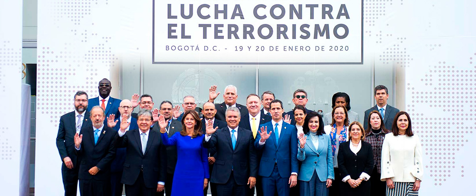 The Anti-Terrorism Conference arrived in Colombia
