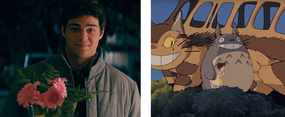 Still from the movie trailer 'To all the boys: Pd. I still love you 'and' My neighbor Totoro '.