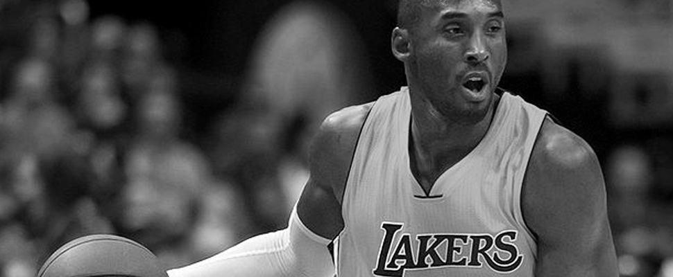 Kobe Bryant in a Lakers game.